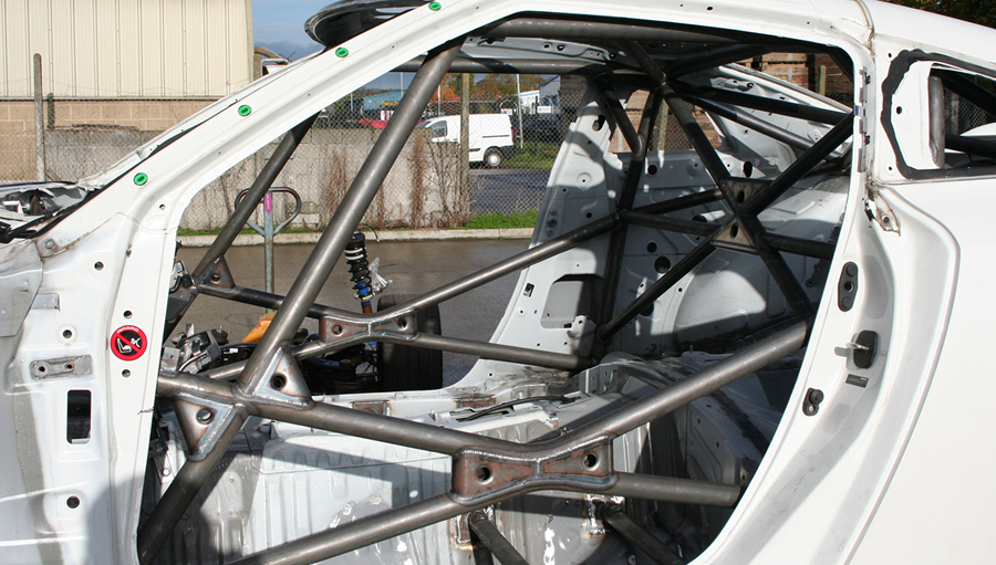 maintenance race car roll cage